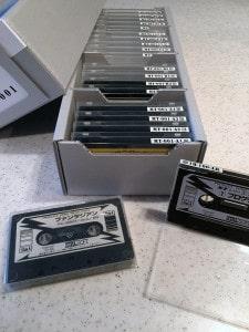 カセットテープ用保存箱